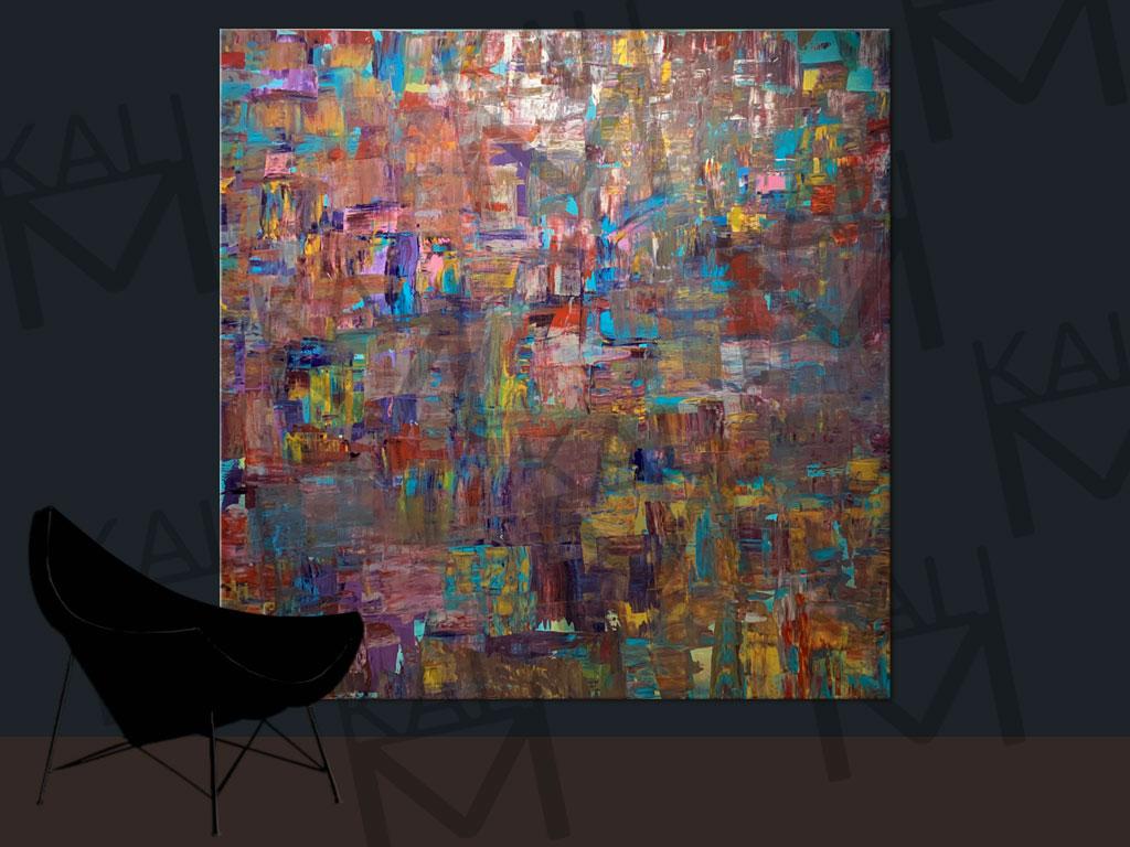 Moderne Abstrakte Kunst Grossformatige Acrylmalerei Kali M
